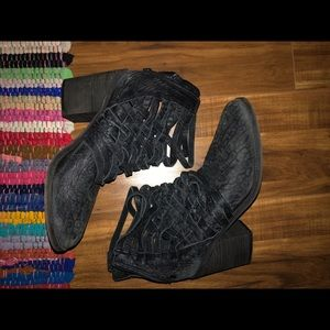 Free People Weaved boots